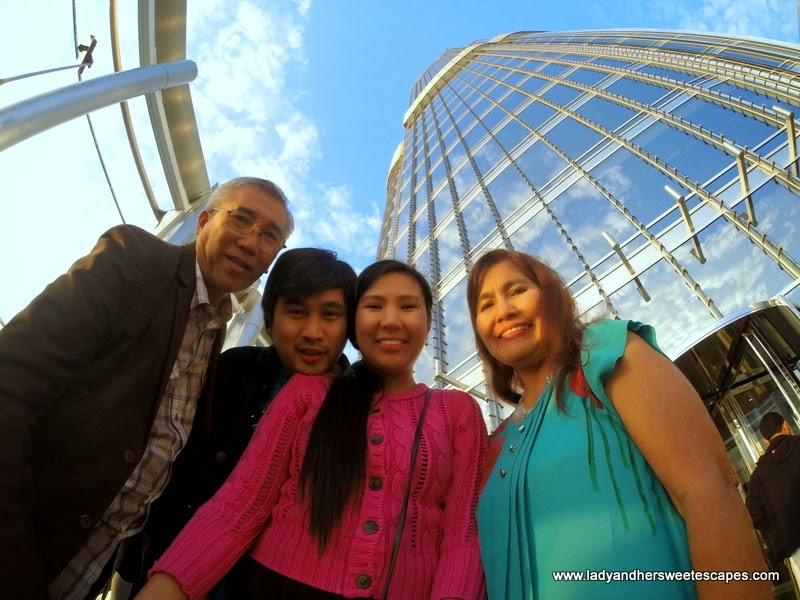 Lady and family at Burj Khalifa At The Top