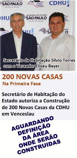 Eliseu Bayer vem trabalhando pela construção das 200 Novas Casa em Venceslau