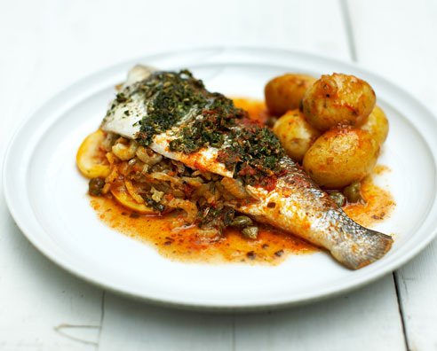 How to cook sea bass gallery online news icon for Fish cooking recipes