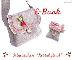 """EBook Filztaschen """"Kirschglück"""""""