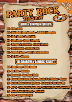 PARTY ROCK TUESDAY HOT PLAY LIST 10月