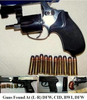 4 loaded firearms.