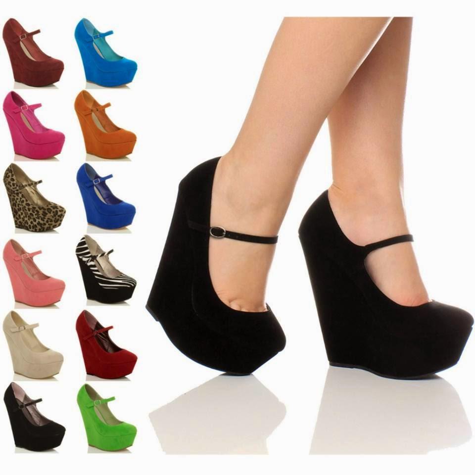 Zapatos de plataforma para vestidos largos
