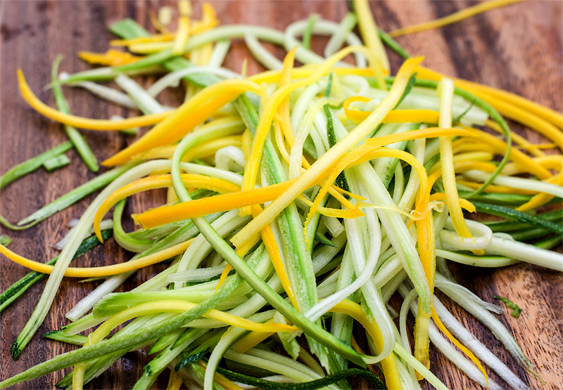Zucchini noodles Zoodles close