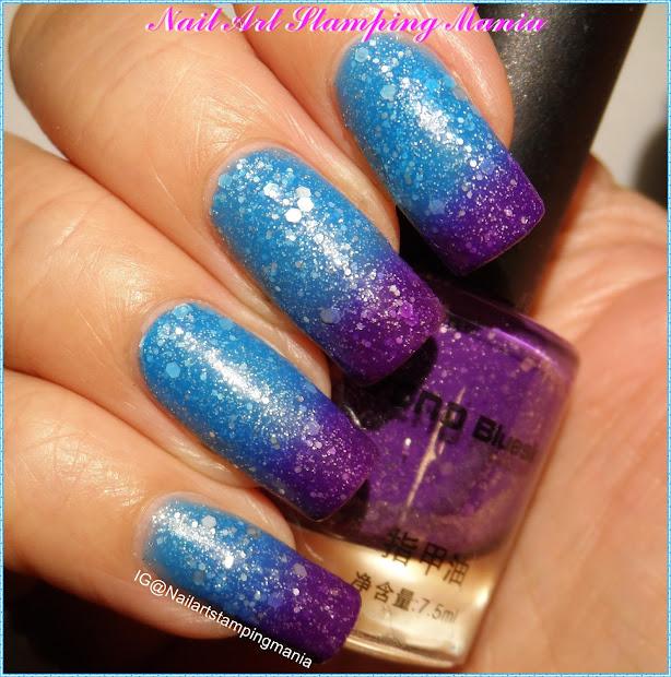 nail art stamping mania glitter