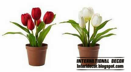 artificial plants, artificial flowers in pot