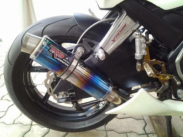 Modifikasi Vixion Ala Kawasaki Ninja 250