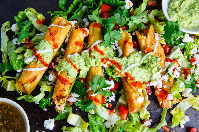 Cilantro Lime Salmon Taquitos