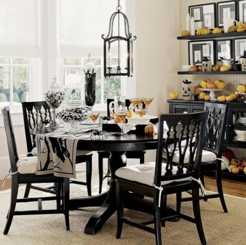 Comedores en color blanco y negro ideas para decorar dise ar y mejorar tu casa - Comedor blanco y negro ...