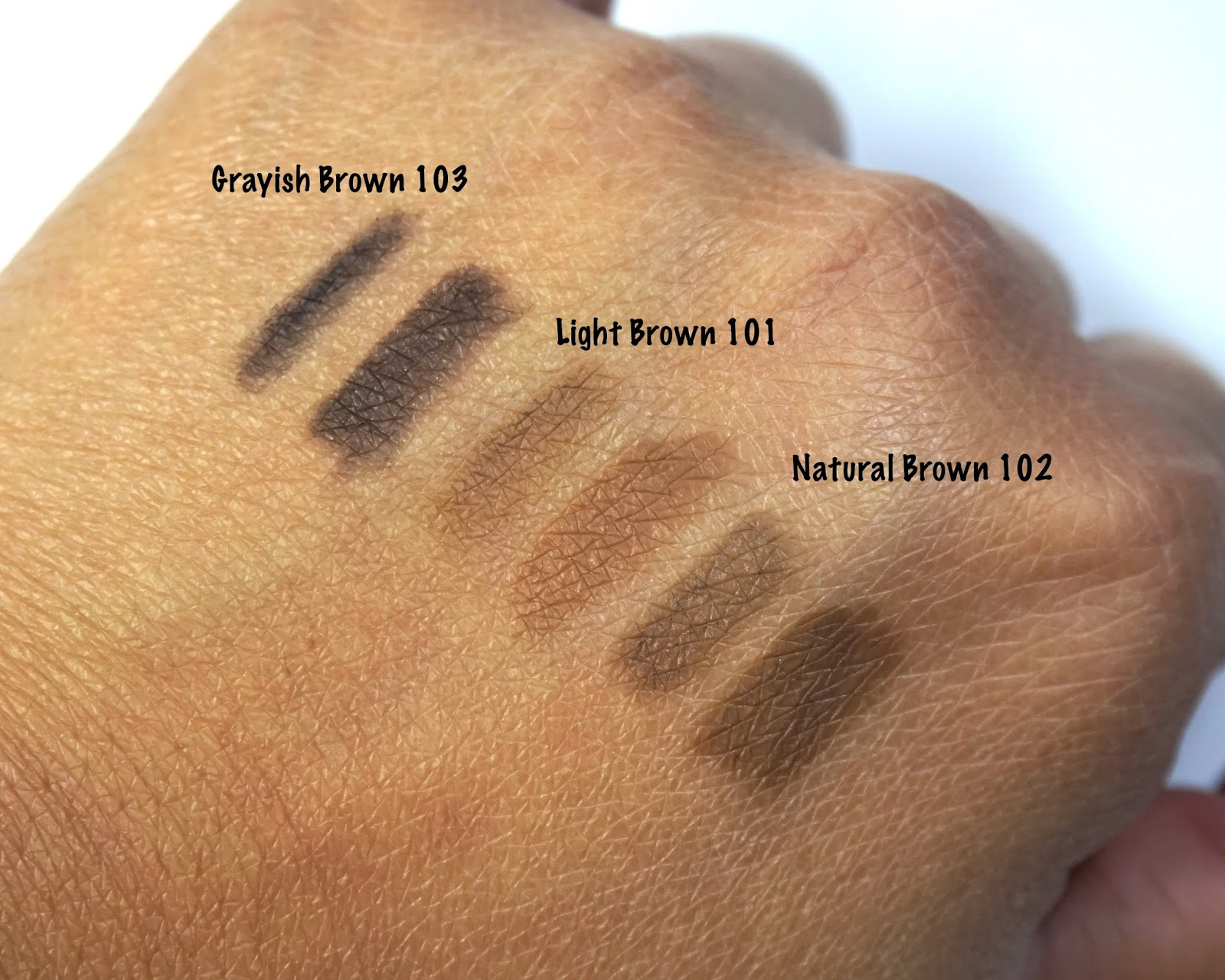 K Palette Real Lasting 2 Way Eyebrow Pencil Review Swatches The