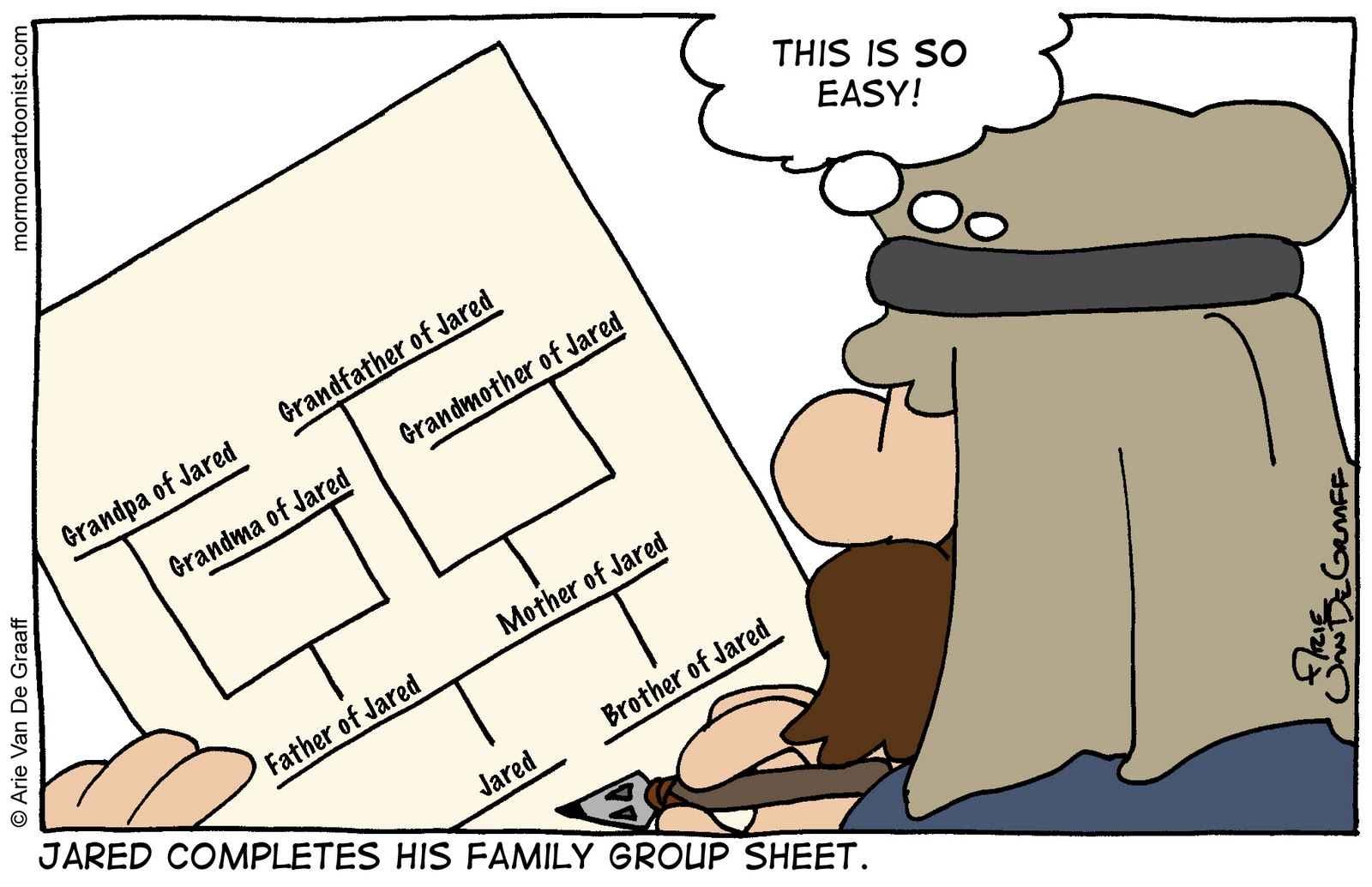 mormon cartoonist jared u0027s family group sheet