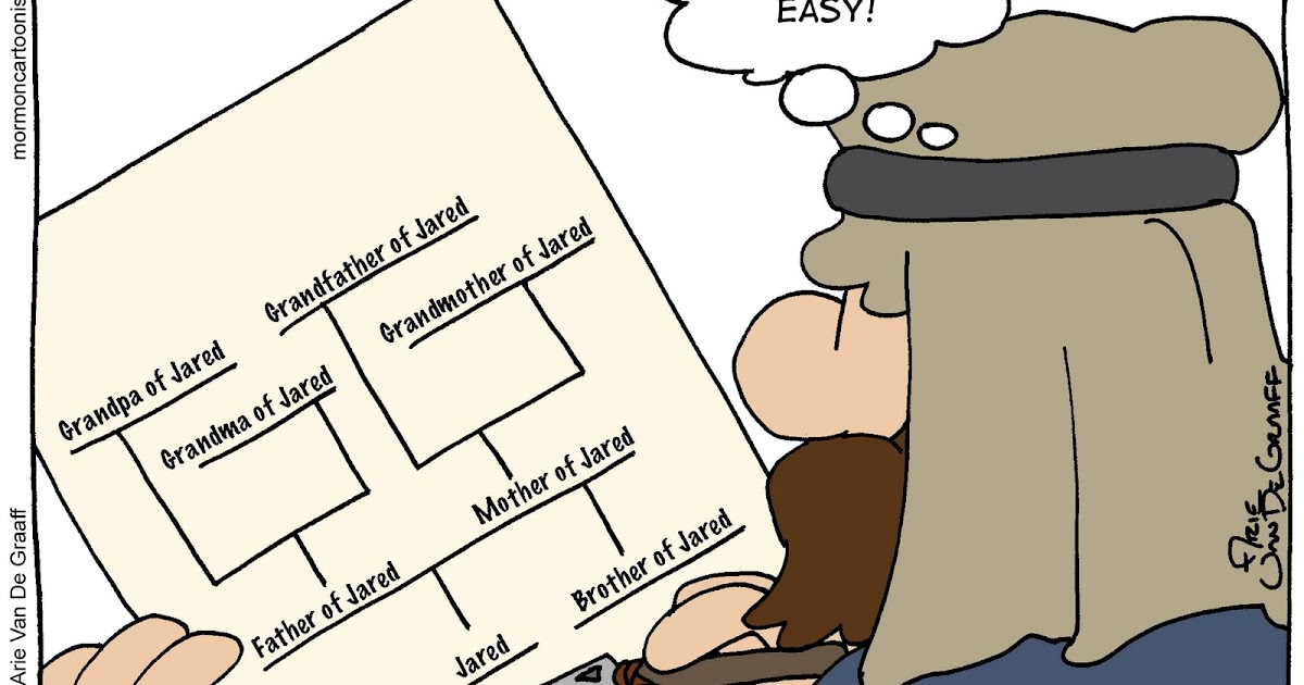 Mormon Cartoonist Jareds Family Group Sheet