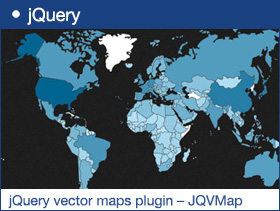 jQuery vector maps plugin – JQVMap