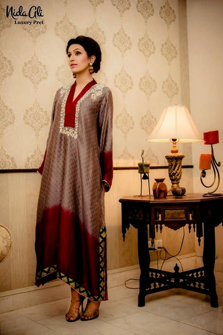 NidaAliLuxuryPretCollection2014 13  - Nida Ali Luxury Pret Collection 2014