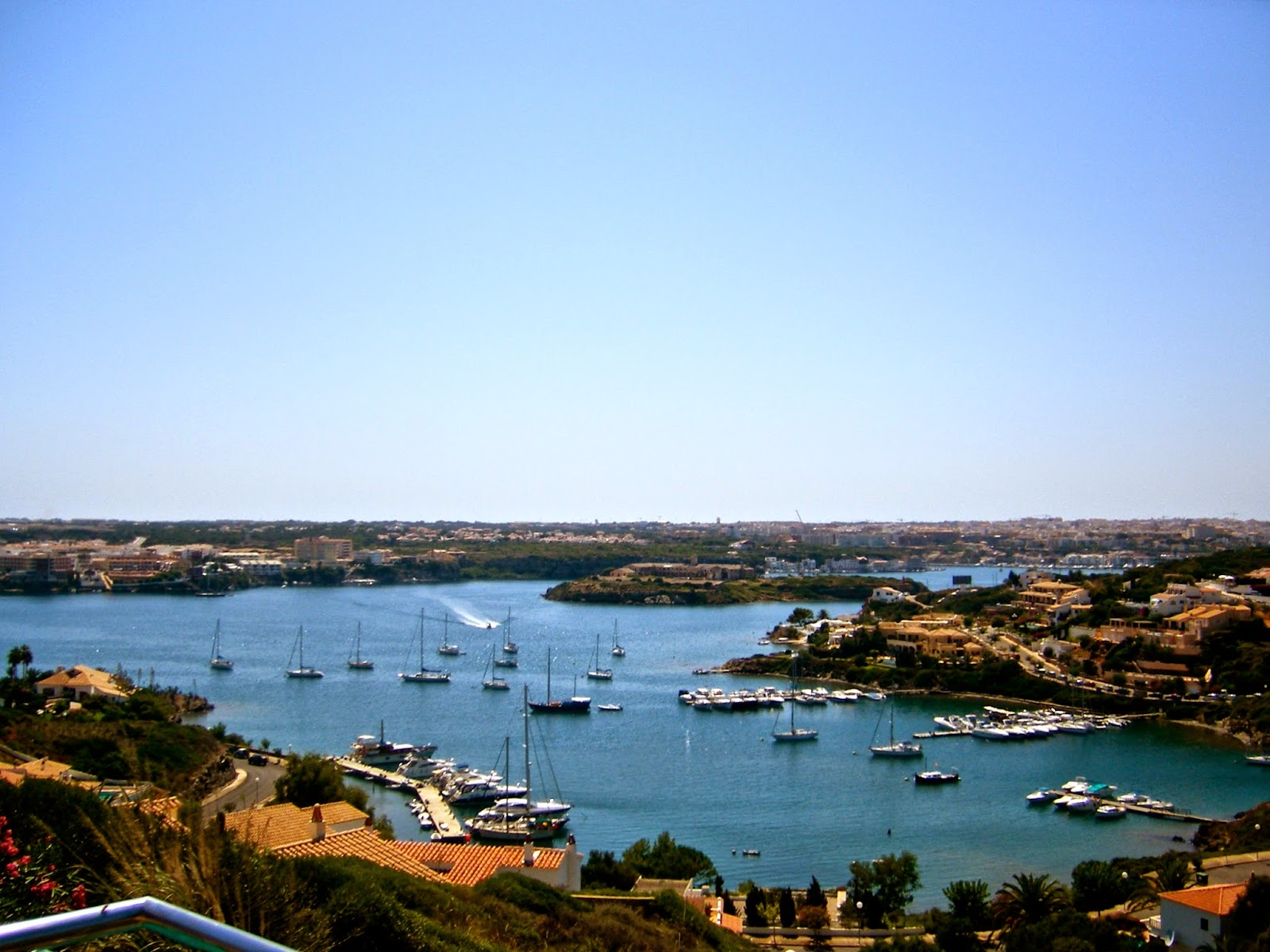 Travel Inspiration | Menorca, Spain | view overlooking Mahon harbour with boats