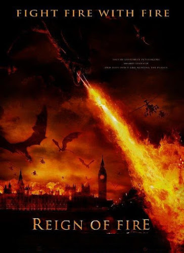 Poster Of Reign of Fire (2002) In Hindi English Dual Audio 100MB Compressed Small Size Mobile Movie Free Download Only