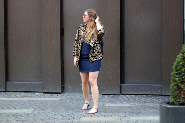 Le specs, blaue glässer, sonnenbrille, trend, sommer 2014, pailettenblazer, H&M Trend, Gold, schwarz, Maffashion, dior, anchor flats, blue, sandalen mit anker, stepp rucksack, six, beeline, kreuz ohrringe, kreis, dreieck kette, hipster, maritim look, modeblogger, hamburg, ootd, style, german fashionblogger,