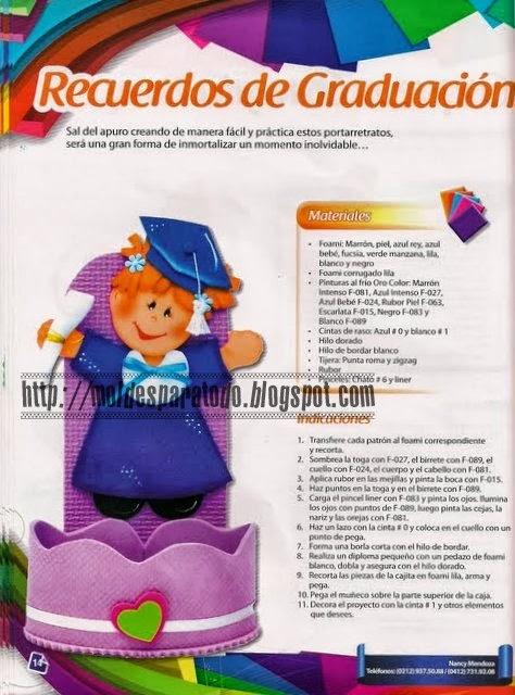 Recuerdos de graduación de foami para preescolar - Imagui