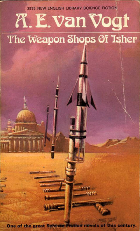 awesome classic sci-fi book cover A.E. Van Vogt The Weapon shops of Isher