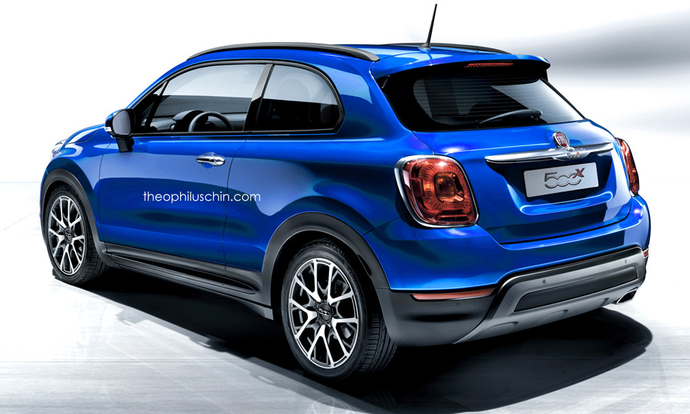 fiat 39 s 500x crossover gets a three door rendition. Black Bedroom Furniture Sets. Home Design Ideas