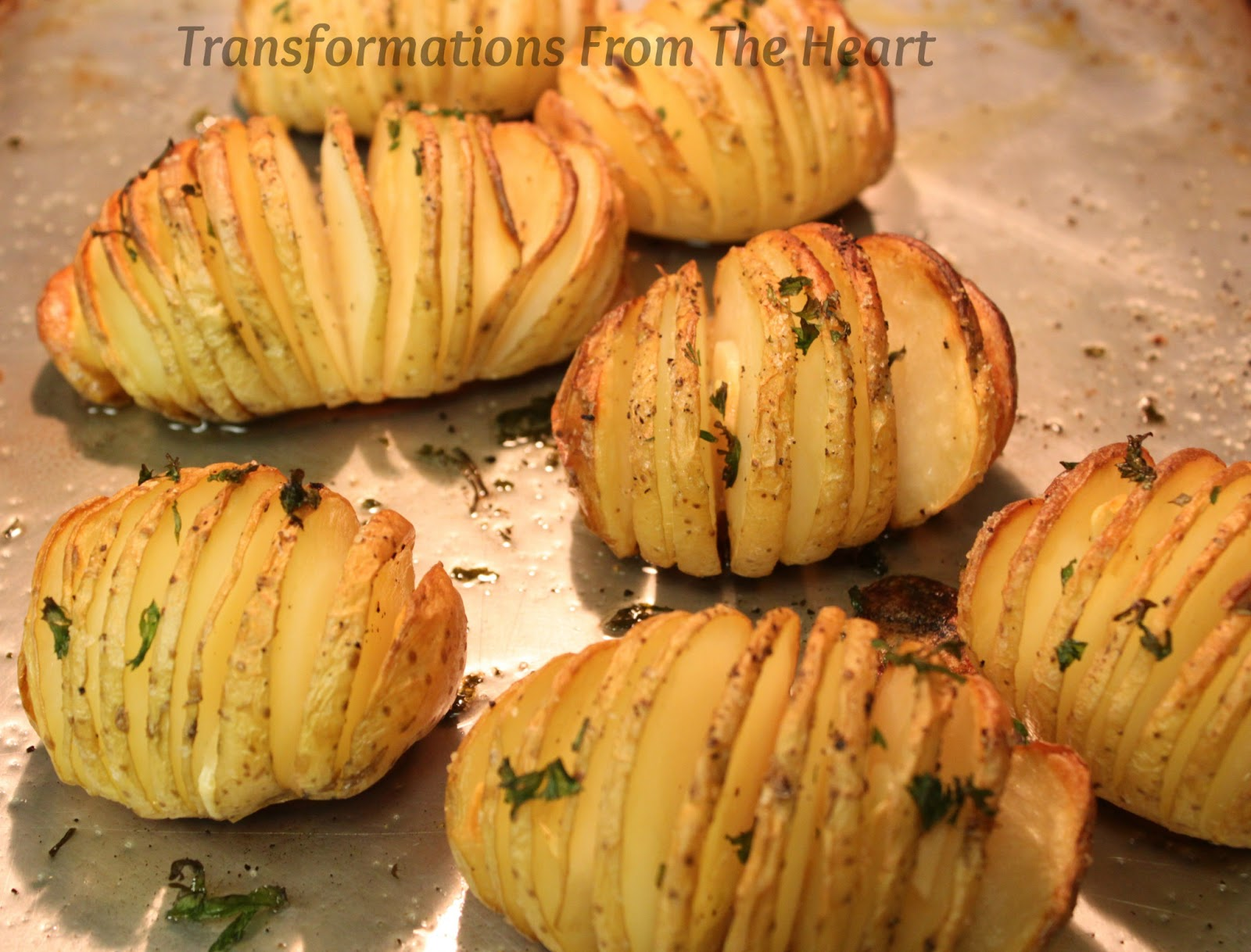 transformations from the heart hasselback potatoes easy