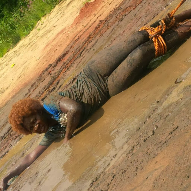 mercy johnson in mud tow truck