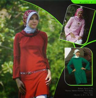 Mazaya Busana Muslim Merah marun Pink baby Hijau tosca