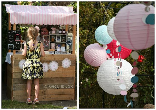 Decoracion Bautizo En Jardin ~ That Cute Little Cake Chloe s Ice Cream Birthday Party
