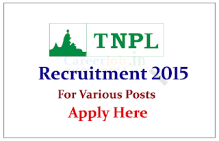 Tamil Nadu Newsprint and Papers Limited Recruitment 2015 for the post of Skilled / Semi Skilled (Instrument Mechanic)