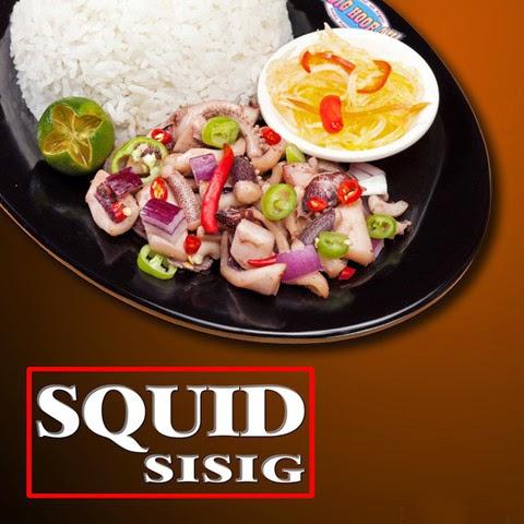 Squid sisig