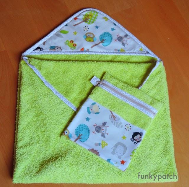 capa de baño y neceser a juego handmade por Funkypatch