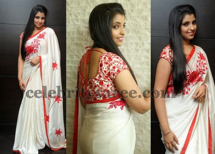 Shyamala Anchor White Saree