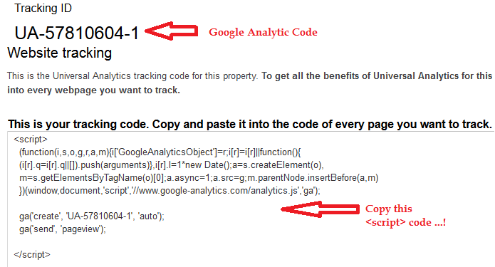 how to put google analytics on html