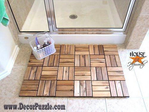 Modern Bathroom Rug Sets, Bath Mats 2017, Wooden Shower Rugs And Carpets