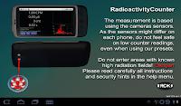 『放射能カウンター』の起動画面