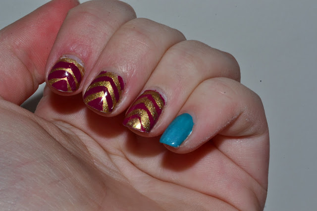 Blue Pinky Challenge by Elins Nails