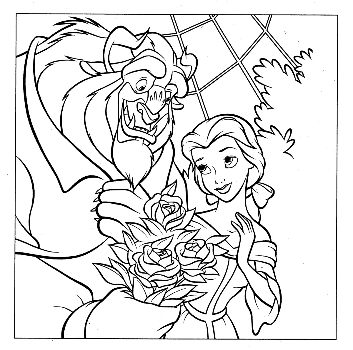 coloring pages disney princess belle - photo#32