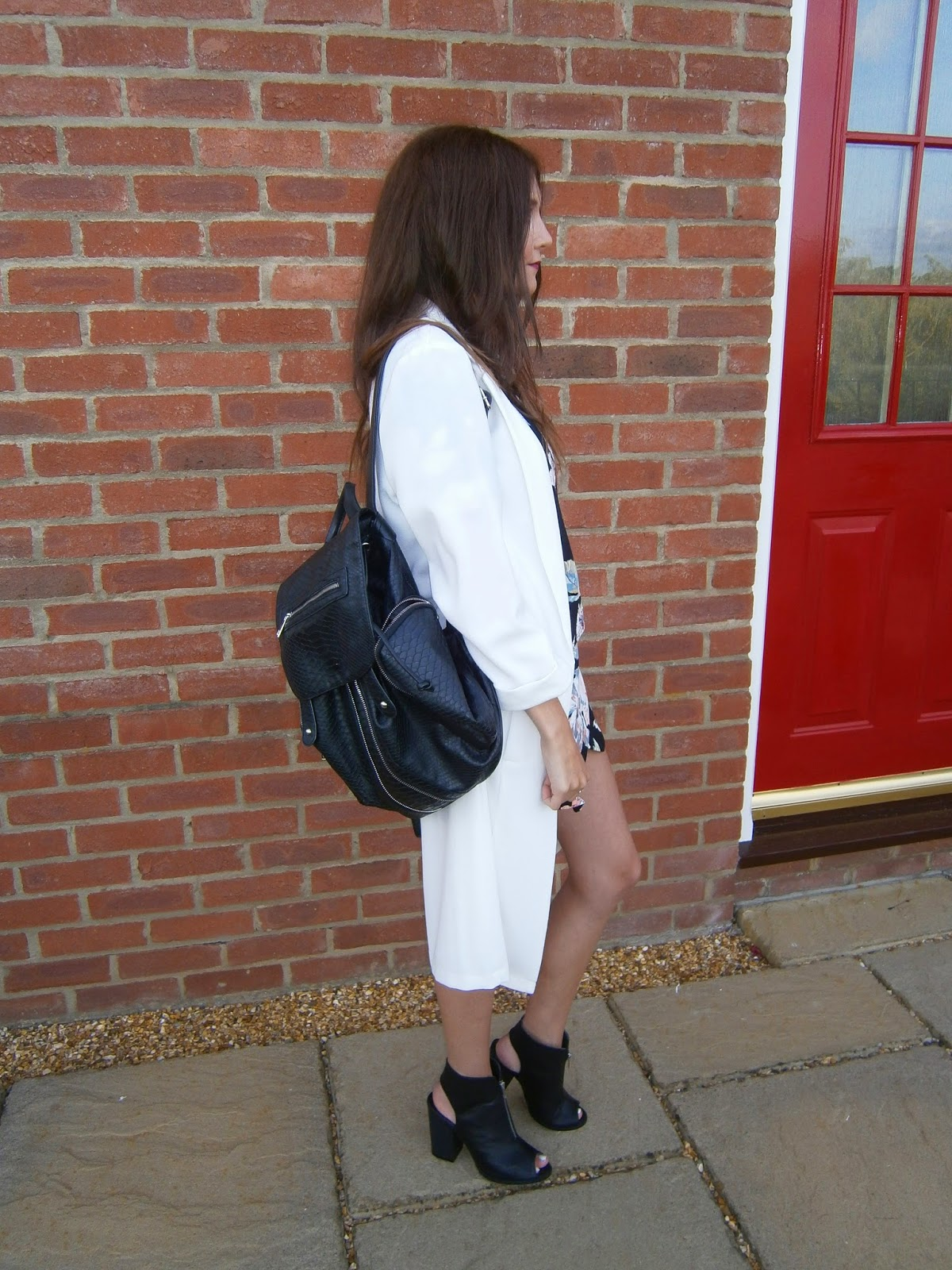 topshop leather backpack street style outfit fashion blogger