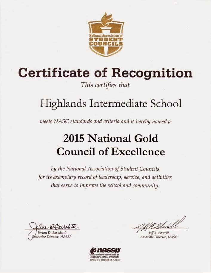 highlands intermediate student activities  highlands