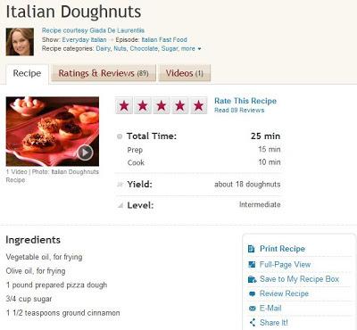 Giada Pizza Dough Doughnuts