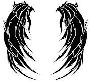 Tatuajes de alas COMPLETISIMO alas con punta de tribal