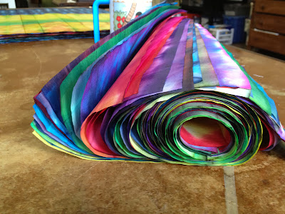 side view of paper roll shows of the colors