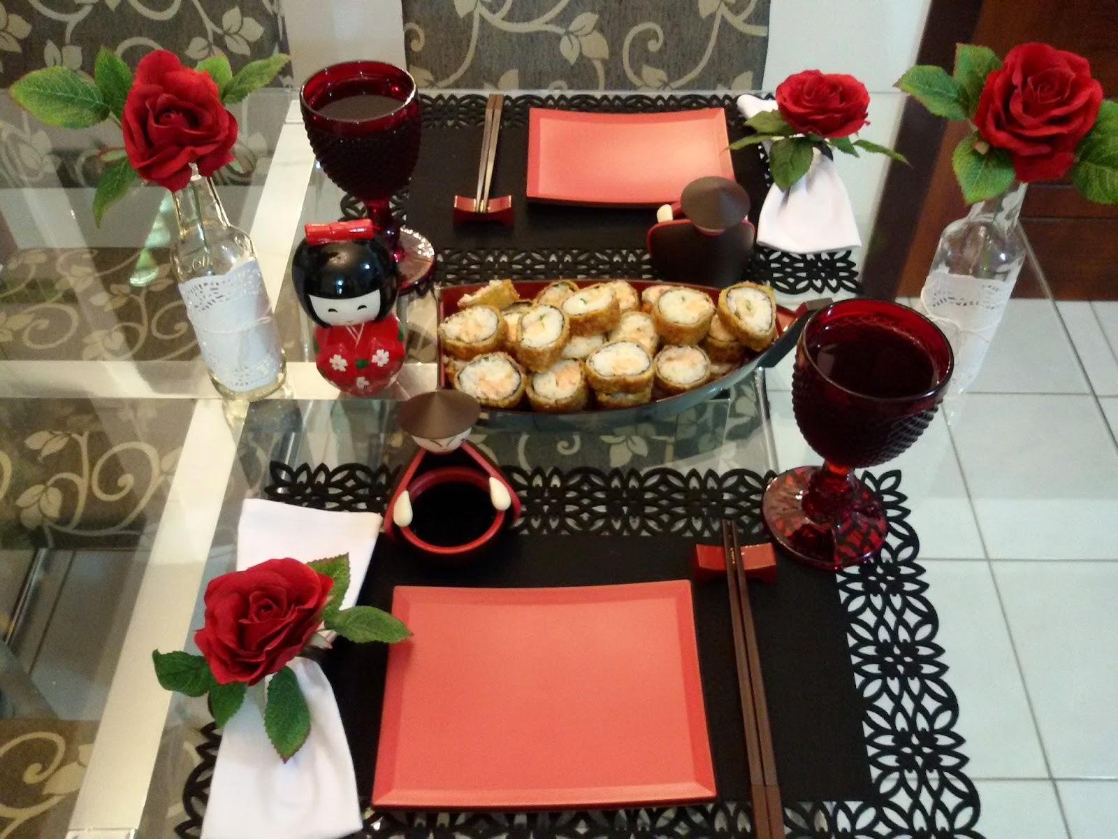 Amando e inventando por taimara nava noite de sushi for Mesa comer