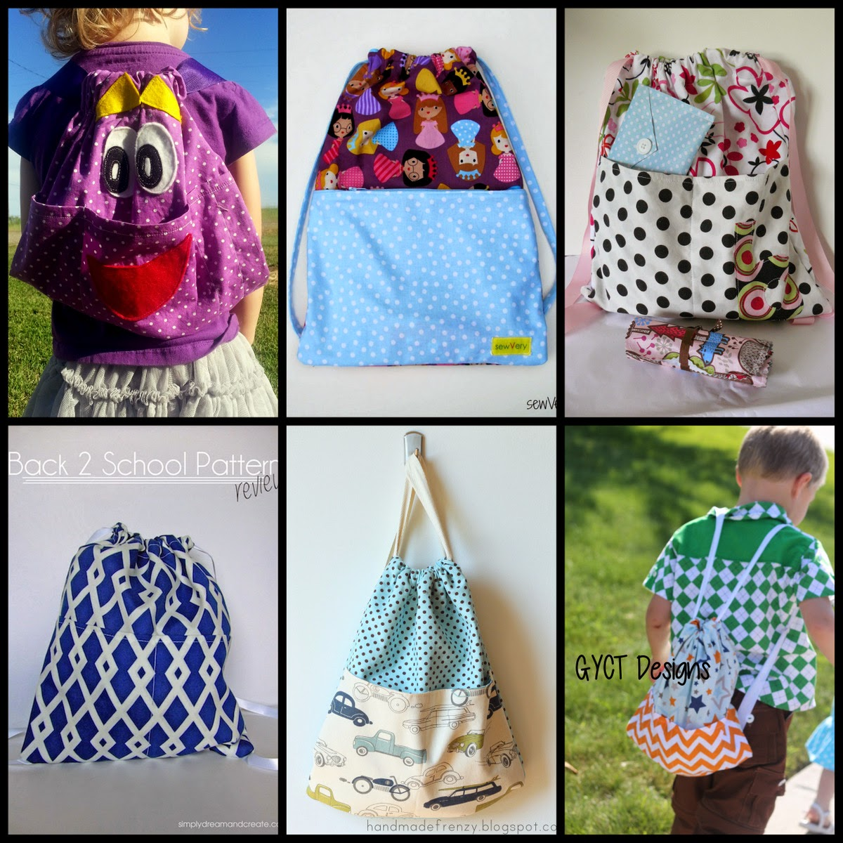 Traveling Backsak Tutorial and Free Pattern
