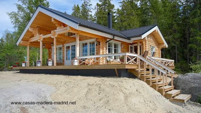 Arquitectura de casas chalets n rdicos construidos de - Chalet de madera ...