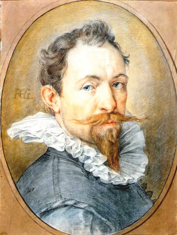 Hendrick Goltzius 1558-1617 | Dutch Baroque Era painter | Self Portrait