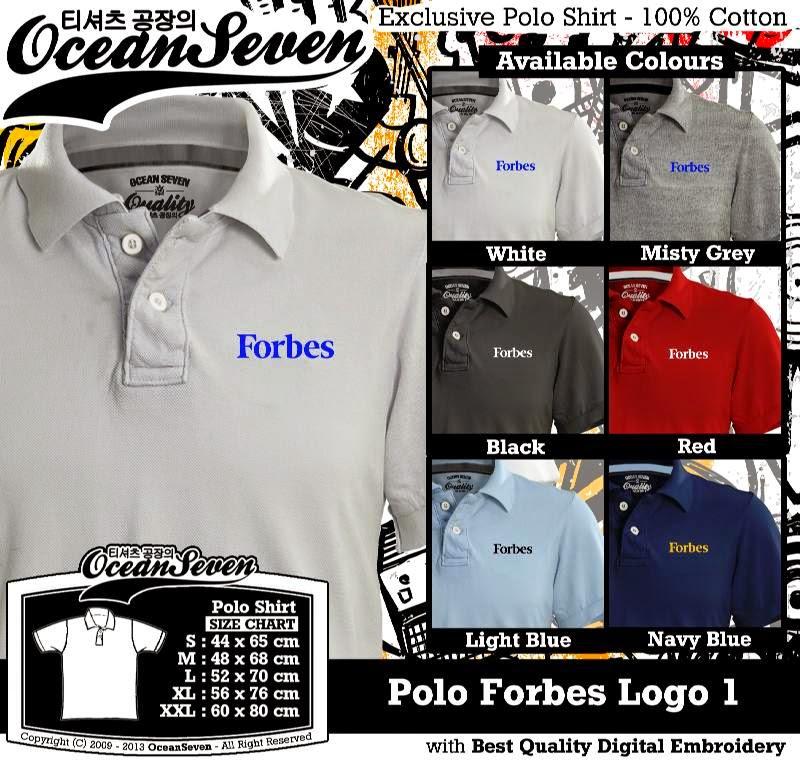 Kaos Polo Forbes Logo 1