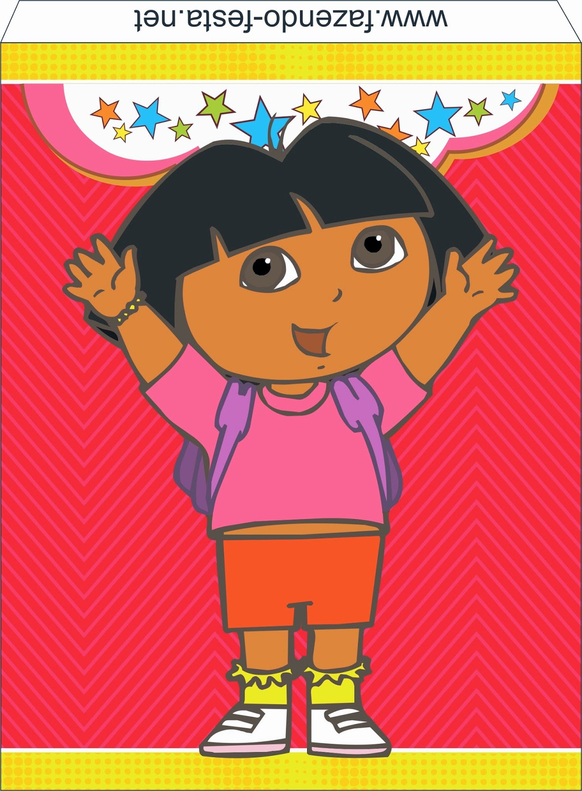 Dora the Explorer free printable invitation, card, bunting or candy bar label.