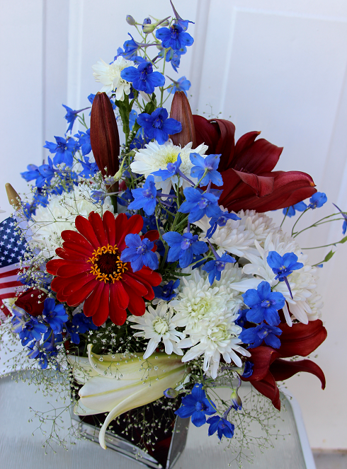 Arranging red white and blue flowers sowing the seeds for Red white blue flower arrangements