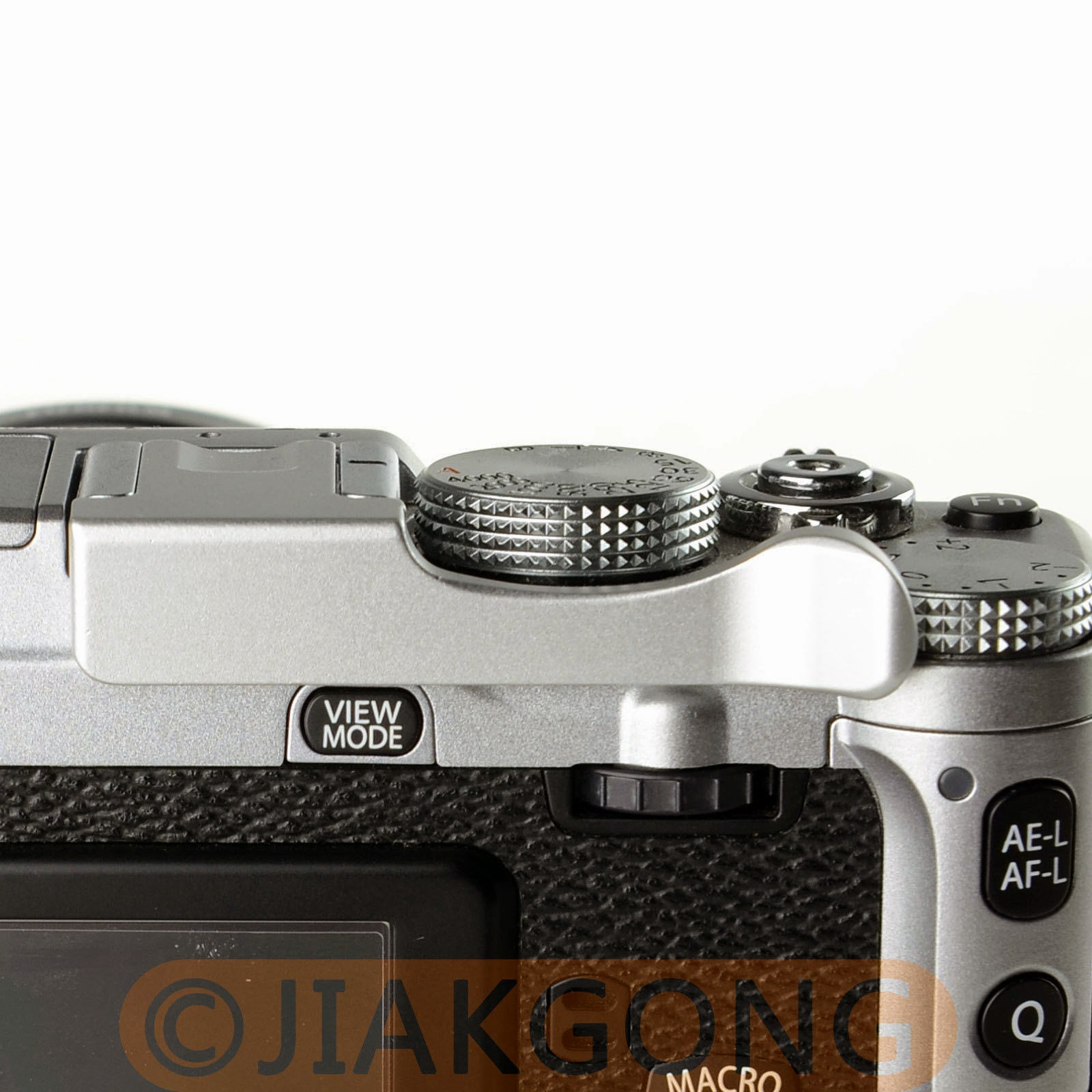 Thumb Up Grip Silver for Fujifilm X-E1 X-M1 X-A1 X-E2 X-Pro1